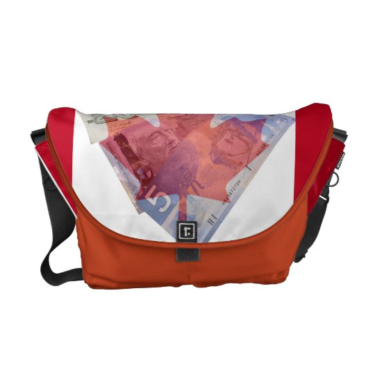 Canadian Money Messenger Bag