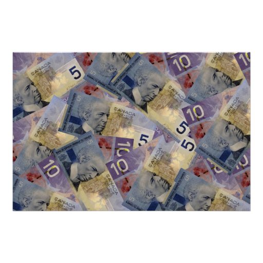 Canadian Money Poster
