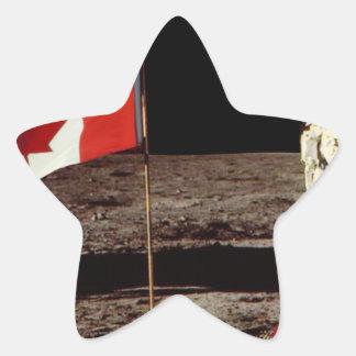 Canadian  Moon Landing Star Sticker