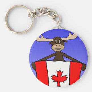 Canadian Moose 2 Basic Round Button Keychain
