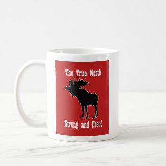Canadian Moose Graphic Mug For Him Red Moose Mug