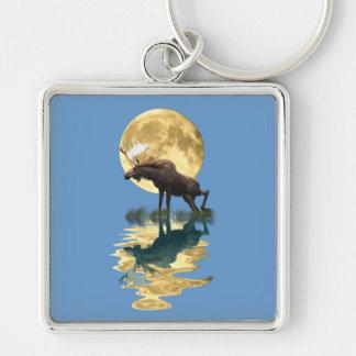Canadian Moose & Moon Wildlife Animal Key Chains