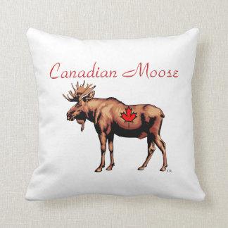 Canadian Moose Throw Pillows