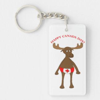 Canadian Moose Single-Sided Rectangular Acrylic Keychain