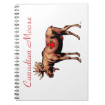 Canadian Moose Spiral Note Book