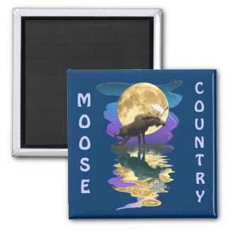Canadian Moose Wildlife Art zazzle_magnet