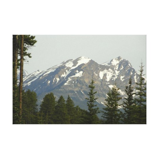 Canadian Mountain Range Canvas