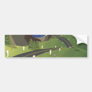 Canadian Mountain Road Bumper Sticker