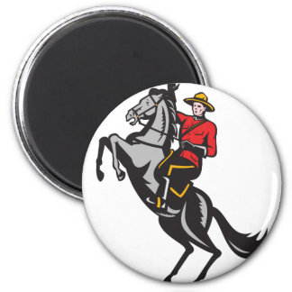 Canadian Mounted Police Mountie Riding Horse Magnets