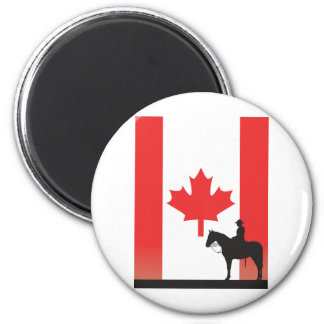Canadian Mountie 2 Inch Round Magnet