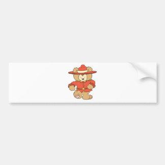 Canadian Mountie Bear Bumper Sticker
