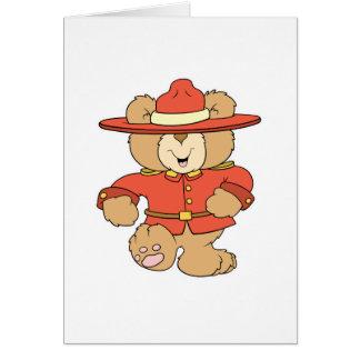 Canadian Mountie Bear Card