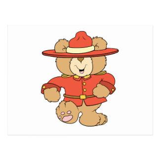 Canadian Mountie Bear Postcard