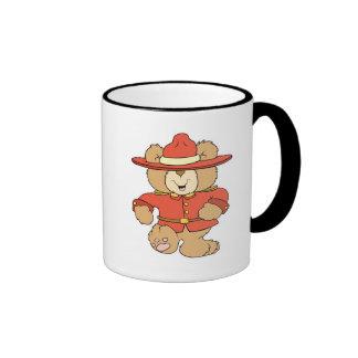Canadian Mountie Bear Ringer Mug