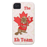 Canadian Mountie Beaver Maple Leaf  - Customize iPhone 4 Case-Mate Cases