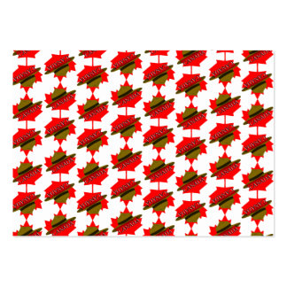 Canadian Mountie Hat on Red Maple Leaf Business Cards