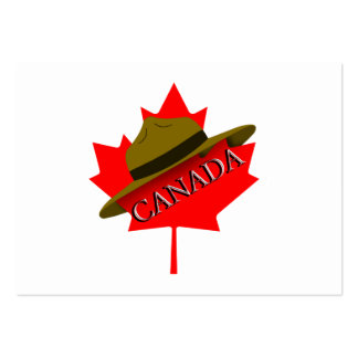 Canadian Mountie Hat on Red Maple Leaf Business Card