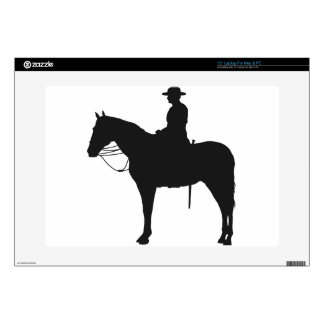 Canadian Mountie Silhouette Decal For Laptop