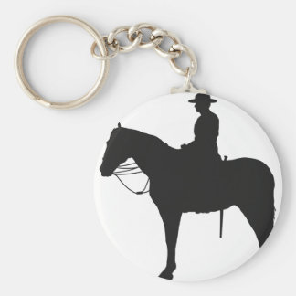 Canadian Mountie Silhouette Keychain