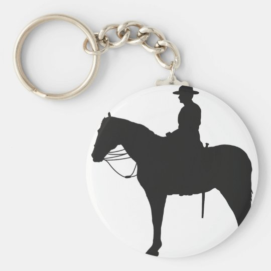 Canadian Mountie Silhouette Keychain