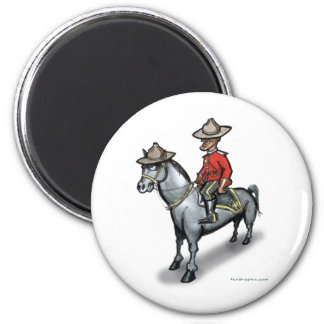 Canadian Mounty 2 Inch Round Magnet