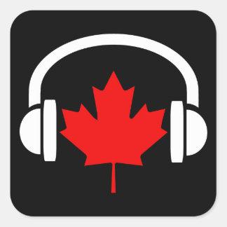 Canadian Music Square Sticker