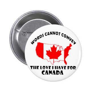 Canadian national flag and map designs pinback button