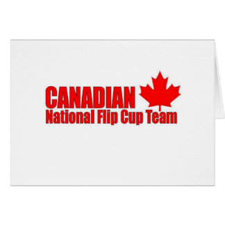 Canadian National Flip Cup Team Card