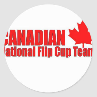 Canadian National Flip Cup Team Classic Round Sticker