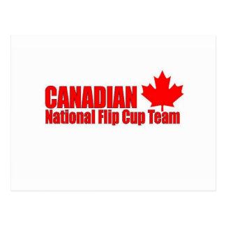 Canadian National Flip Cup Team Postcard