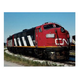 Canadian National FP-7 a+a set No 9165 Toronto Post Card