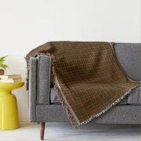 Canadian National Maple Leaf Tartan Throw Blanket