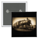 Canadian National Railroad Engine 2128 2 Inch Square Button