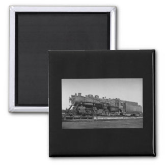 Canadian National Railroad Engine 3556 2 Inch Square Magnet