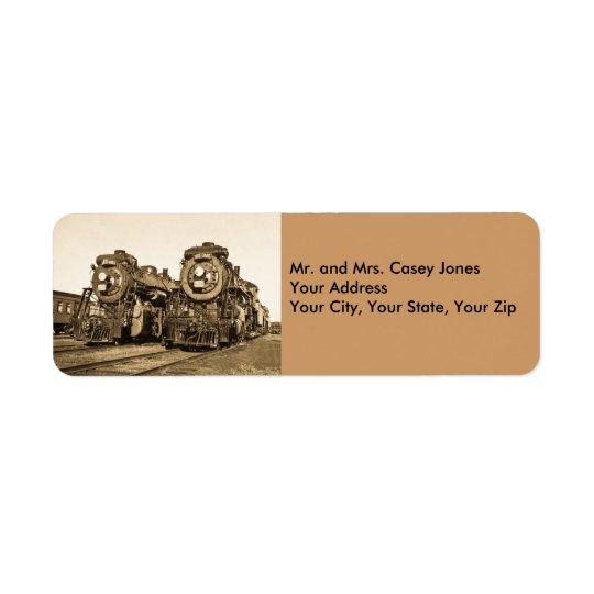 Canadian National Twin Locomotives - Vintage Label