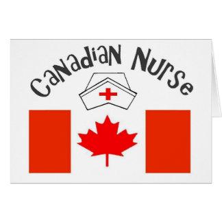 Canadian Nurse (Canadian Flag) Nurse Cap Card