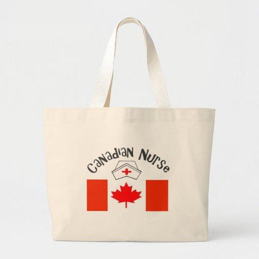 Canadian Nurse (Canadian Flag) Nurse Cap Large Tote Bag