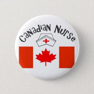 Canadian Nurse (Canadian Flag) Nurse Cap Pinback Button