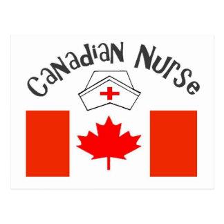 Canadian Nurse (Canadian Flag) Nurse Cap Postcard