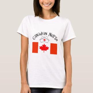 Canadian Nurse (Canadian Flag) Nurse Cap T-Shirt