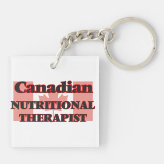 Canadian Nutritional Therapist Double-Sided Square Acrylic Keychain