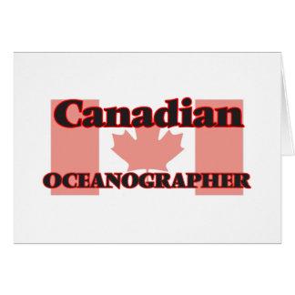 Canadian Oceanographer Greeting Card