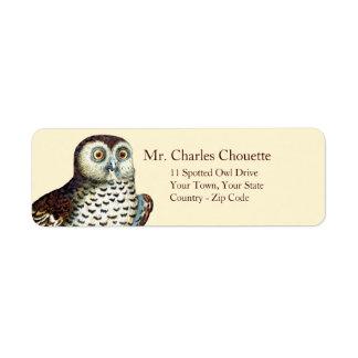 Canadian Owl Customizable Return Address Labels