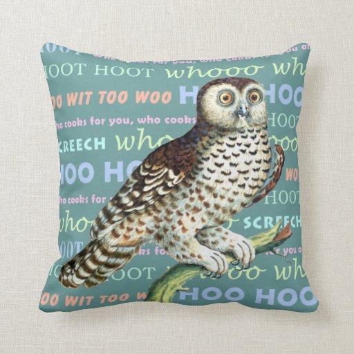 Canadian Owl Hoot Owl Sounds Pillow