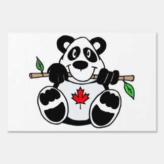 Canadian Panda Lawn Sign