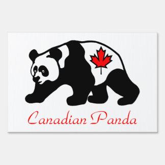 Canadian Panda Yard Sign