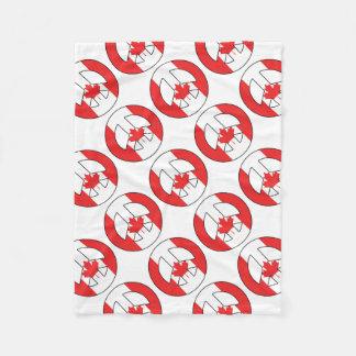 Canadian Peace Sign Fleece Blanket