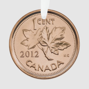 Canadian penny 2012 ornament
