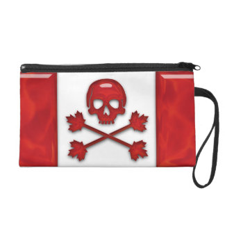 Canadian Pirate Flag Wristlet Purse
