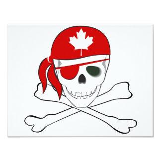 """Canadian Pirate 4.25"""" X 5.5"""" Invitation Card"""